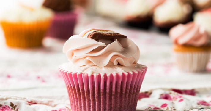 Cupcake vainilla i cotó de sucre - Pastisseria Girona