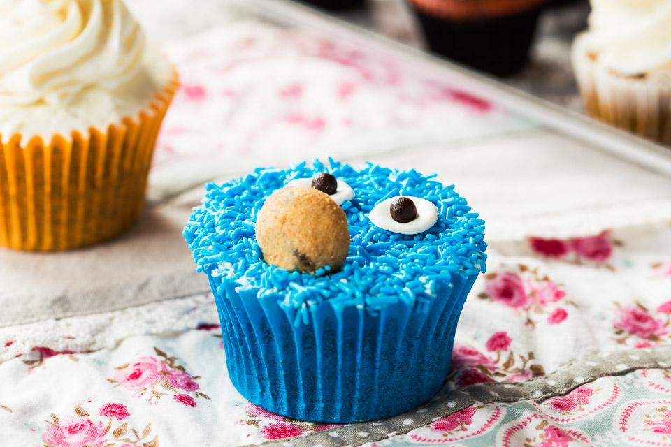 Cupcake Monstre de les galetes - Pastisseria Girona